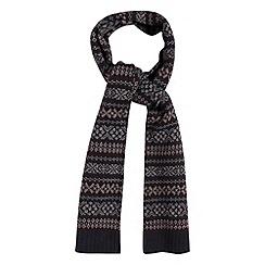 J by Jasper Conran - Designer blue fairisle knitted scarf