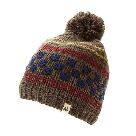 Mantaray - Brown checkerboard beanie