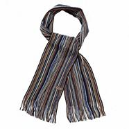 Blue multi striped scarf