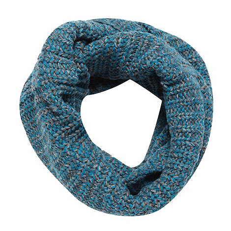 Mantaray - Turquoise ribbed knit snood