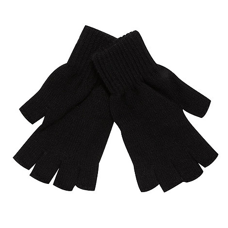 Red Herring - Black fingerless gloves