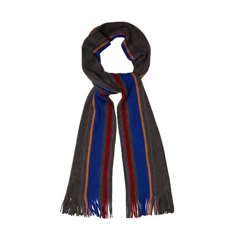 The Collection Multi-coloured striped scarf