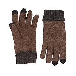 RJR.John Rocha - Designer brown touch screen gloves