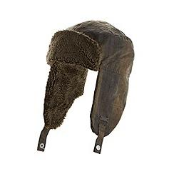 RJR.John Rocha - Designer dark green wax trapper hat