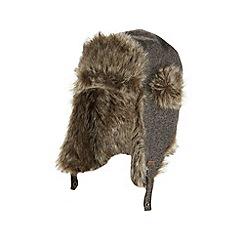 RJR.John Rocha - Designer grey herringbone trapper hat