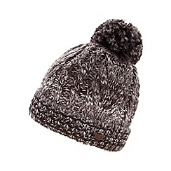 RJR.John Rocha - Designer grey cable knitted beanie hat