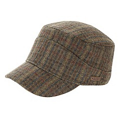 RJR.John Rocha - Designer brown checked traindriver hat
