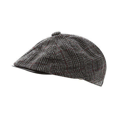 Jeff Banks - Designer grey checked baker boy hat