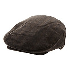 Osborne - Brown striped flat cap