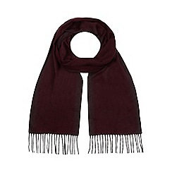 J by Jasper Conran - Dark red twill scarf