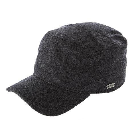 J by Jasper Conran - Designer grey melton train driver hat