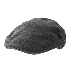 J by Jasper Conran - Designer grey brushed flat cap