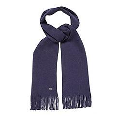 J by Jasper Conran - Designer navy Italian merino wool scarf