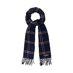 Hammond & Co. by Patrick Grant - Navy checked wool scarf