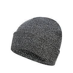 Red Herring - Grey twisted knit beanie hat