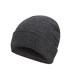 Red Herring - Grey plain beanie hat