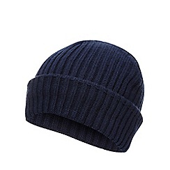Red Herring - Navy ribbed beanie hat