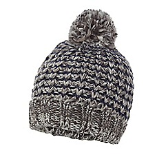 Mantaray - Grey chunky knit bobble hat