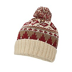 Mantaray - Multi-coloured Fair Isle knitted bobble hat