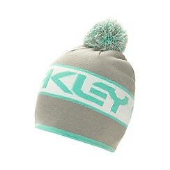 Oakley - Grey striped logo beanie hat