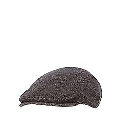 RJR.John Rocha - Brown herringbone earflap flat cap
