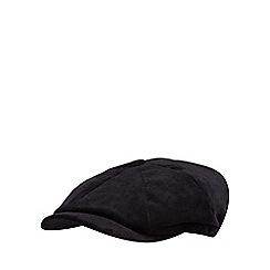 J by Jasper Conran - Black cord baker boy cap
