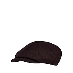 J by Jasper Conran - Purple baker boy cap with wool