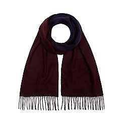 J by Jasper Conran - Wine red reversible scarf