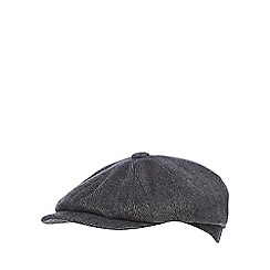 Hammond & Co. by Patrick Grant - Grey herringbone baker boy hat with wool