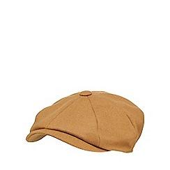 Hammond & Co. by Patrick Grant - Tan wool blend baker boy hat