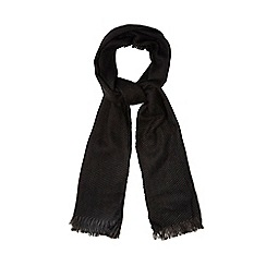 The Collection - Black woven textured scarf