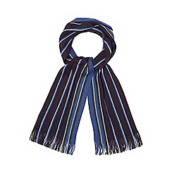 The Collection - Navy wide stripe scarf