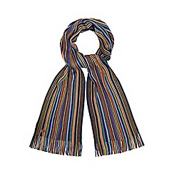 Mantaray - Multi-coloured bright fine stripe scarf