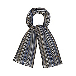 Mantaray - Multi-coloured tonal fine stripe scarf