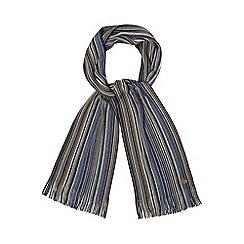 Mantaray - Multi-coloured tonal fine stripe scarf