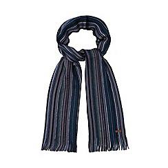 RJR.John Rocha - Blue Merino wool stripe scarf