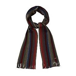 RJR.John Rocha - Multi-coloured Merino wool block stripe scarf