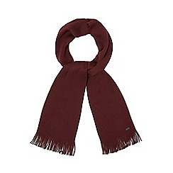 J by Jasper Conran - Dark red Merino wool scarf
