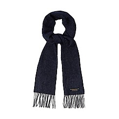 Hammond & Co. by Patrick Grant - Blue herringbone wool scarf