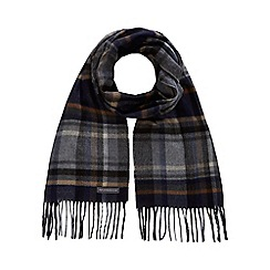RJR.John Rocha - Grey checked herringbone scarf