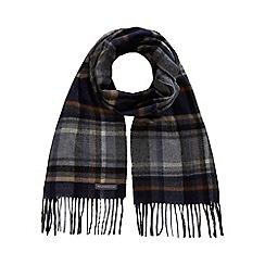 RJR.John Rocha - Grey checked herringbone scarf