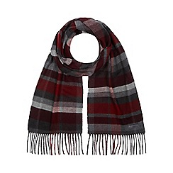 RJR.John Rocha - Red block checked scarf