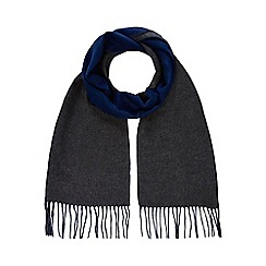 J by Jasper Conran - Grey and blue reversible scarf