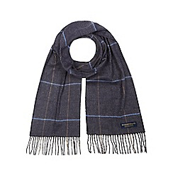 Hammond & Co. by Patrick Grant - Grey Prince of Wales checked scarf