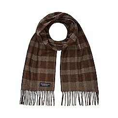 Hammond & Co. by Patrick Grant - Brown checked scarf