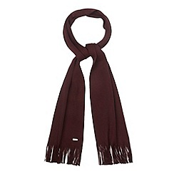 J by Jasper Conran - Designer maroon merino wool scarf