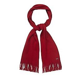 J by Jasper Conran - Designer red merino wool scarf