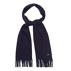 J by Jasper Conran - Designer navy merino wool scarf