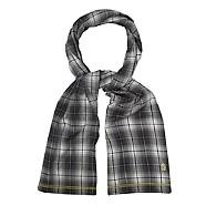 Grey lightweight check scarf