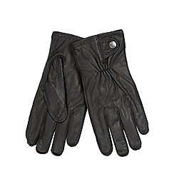 RJR.John Rocha - Designer black grained leather gloves